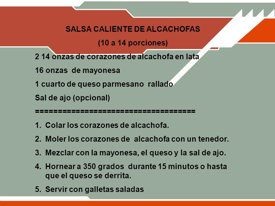 SALSA CALIENTE DE ALCACHOFAS
