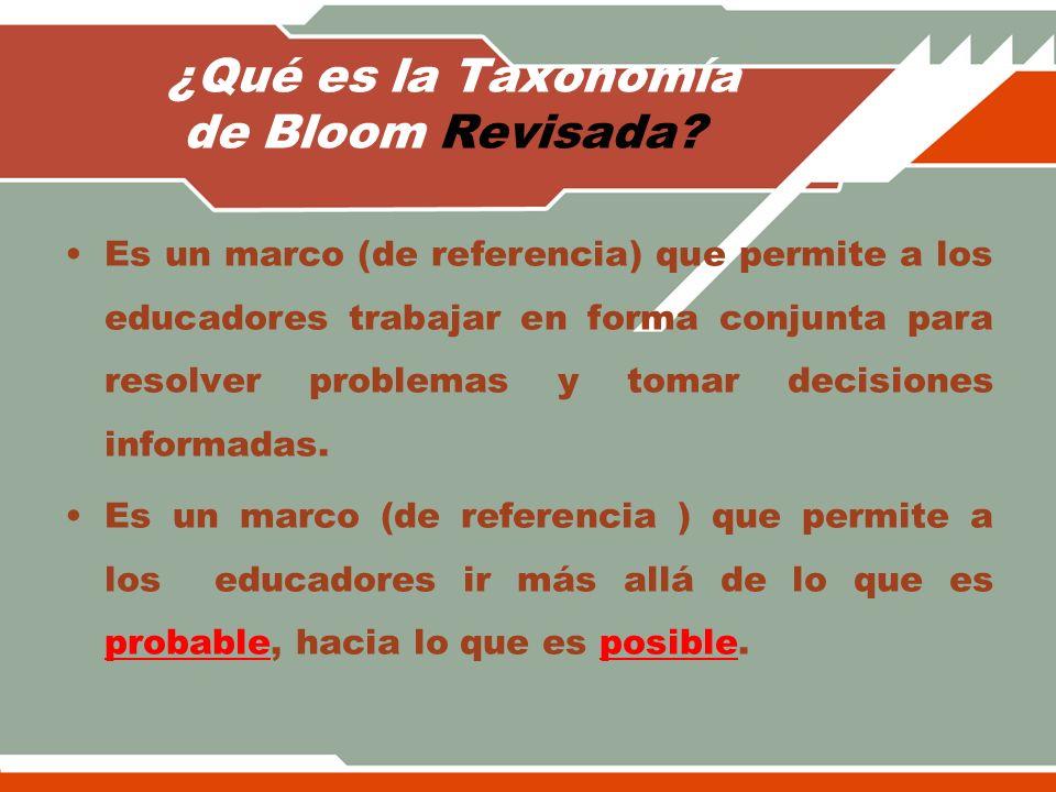 ¿Qué es la Taxonomía de Bloom Revisada