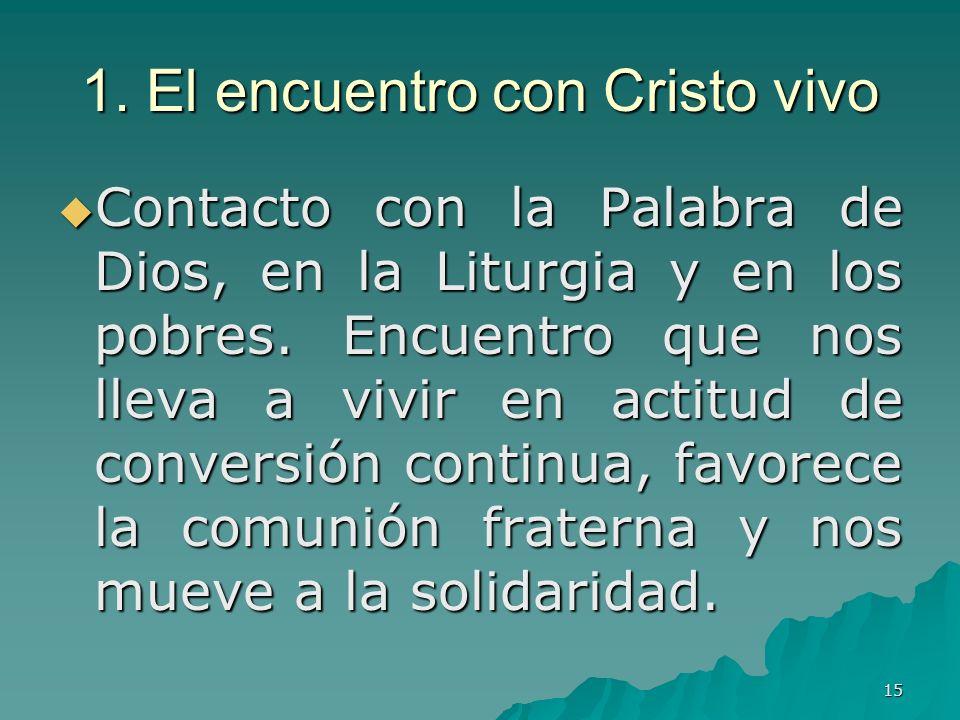 1. El encuentro con Cristo vivo
