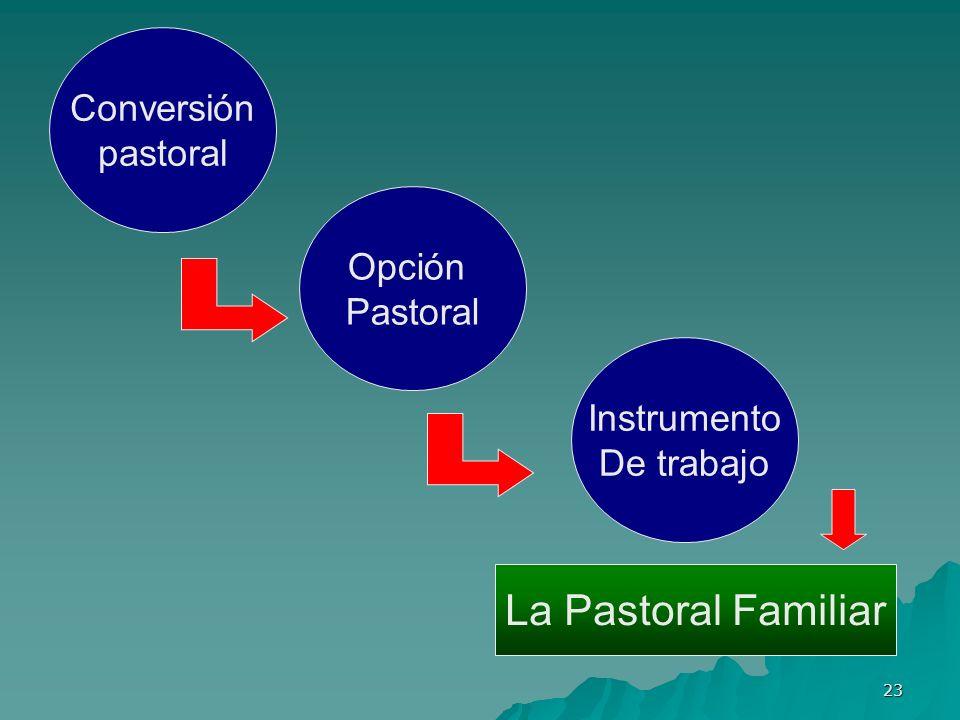 La Pastoral Familiar Conversión pastoral Opción Pastoral Instrumento