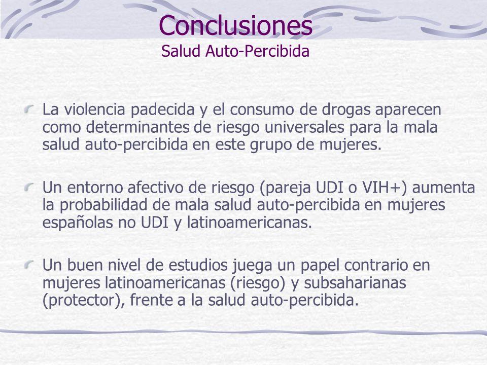 Conclusiones Salud Auto-Percibida