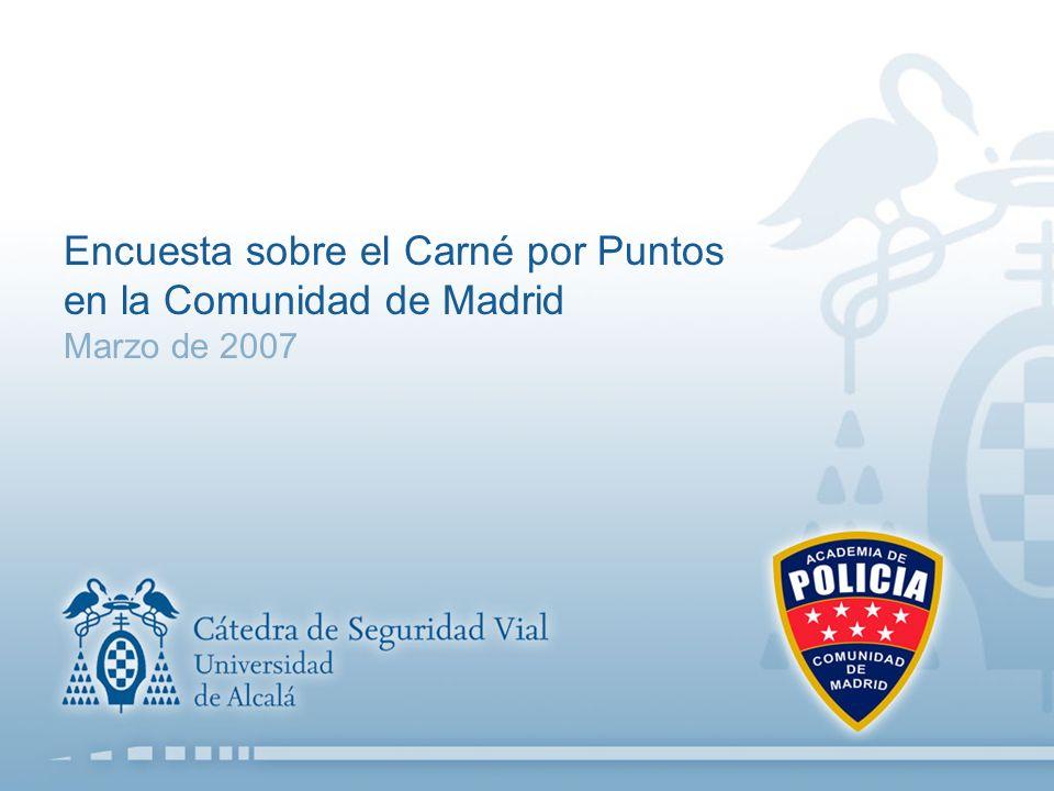 Encuesta sobre el Carné por Puntos en la Comunidad de Madrid