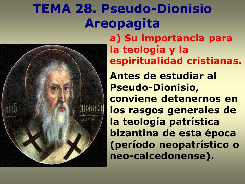 TEMA 28. Pseudo-Dionisio Areopagita