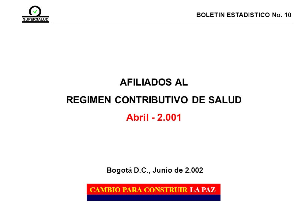 REGIMEN CONTRIBUTIVO DE SALUD