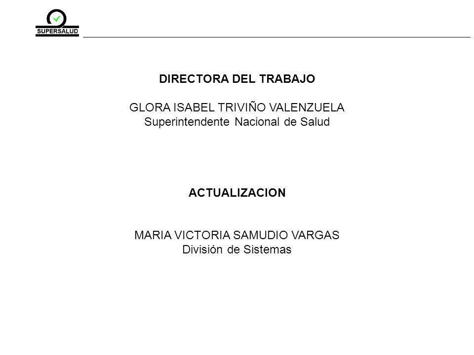 GLORA ISABEL TRIVIÑO VALENZUELA Superintendente Nacional de Salud