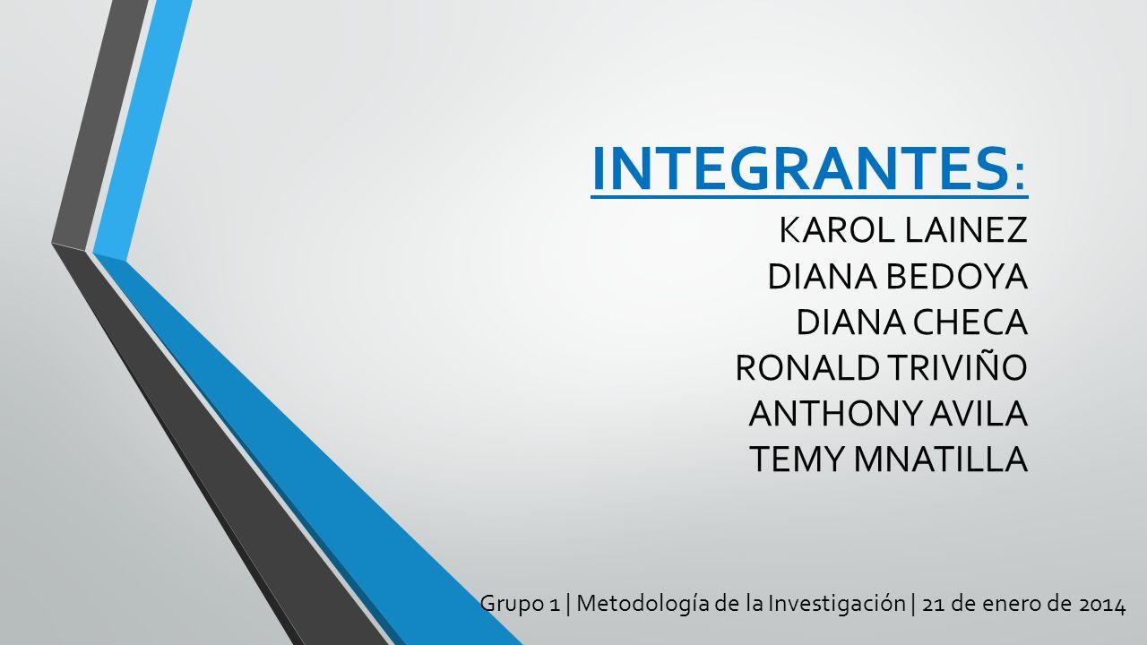 Grupo 1 | Metodología de la Investigación | 21 de enero de 2014