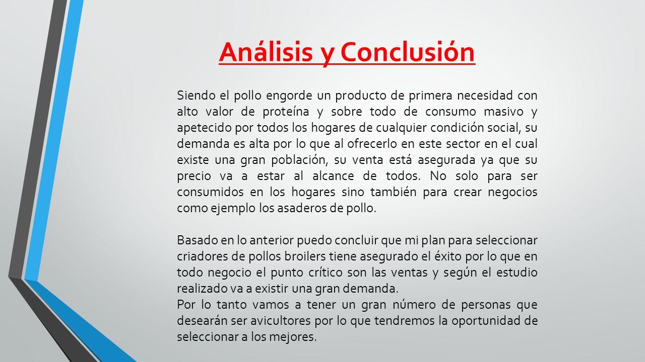 Análisis y Conclusión