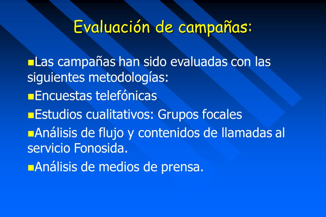 Evaluación de campañas: