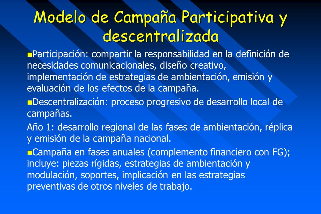 Modelo de Campaña Participativa y descentralizada