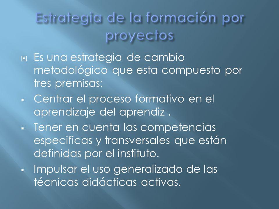 Estrategia de la formación por proyectos