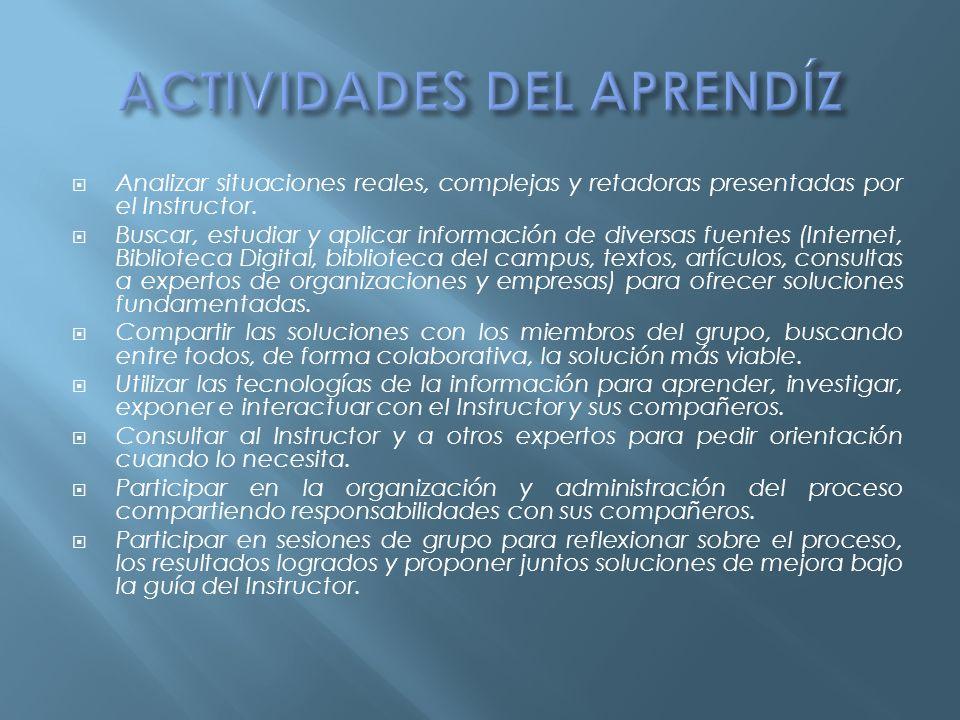 ACTIVIDADES DEL APRENDÍZ