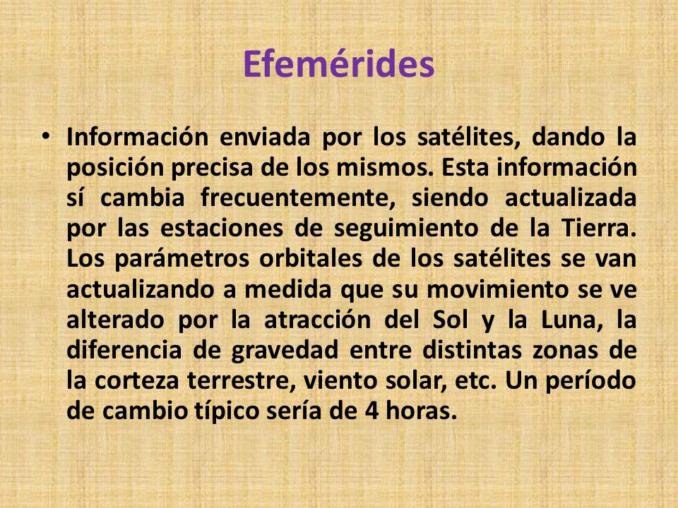 Efemérides