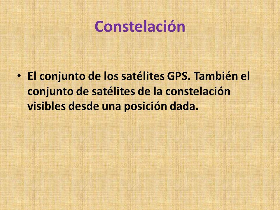 ConstelaciónEl conjunto de los satélites GPS.