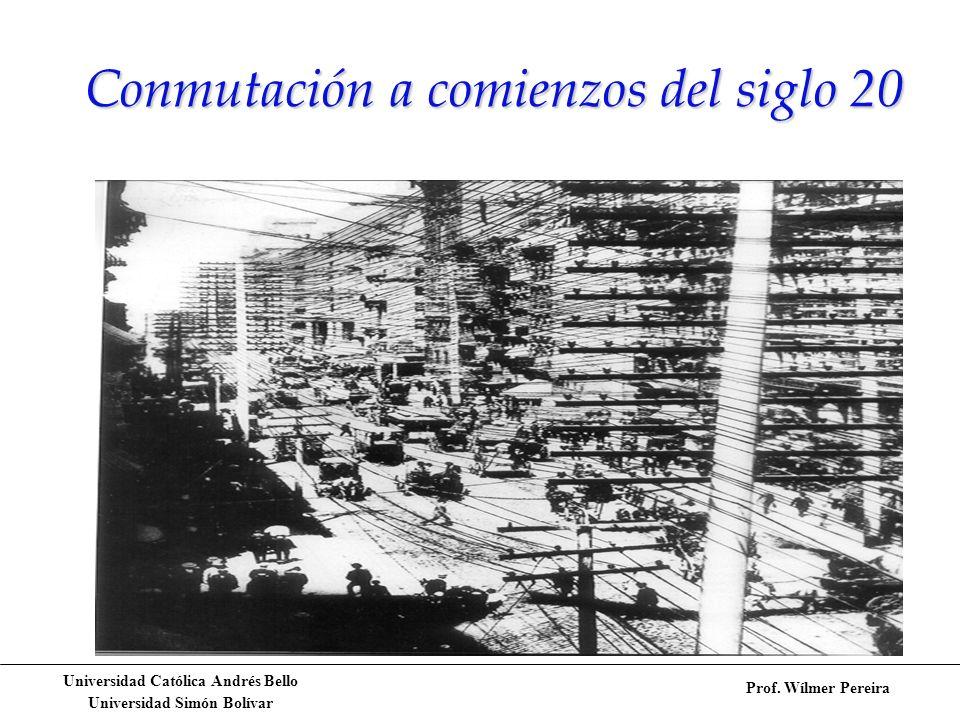 Conmutación a comienzos del siglo 20