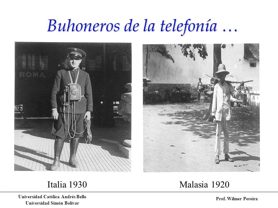 Buhoneros de la telefonía …