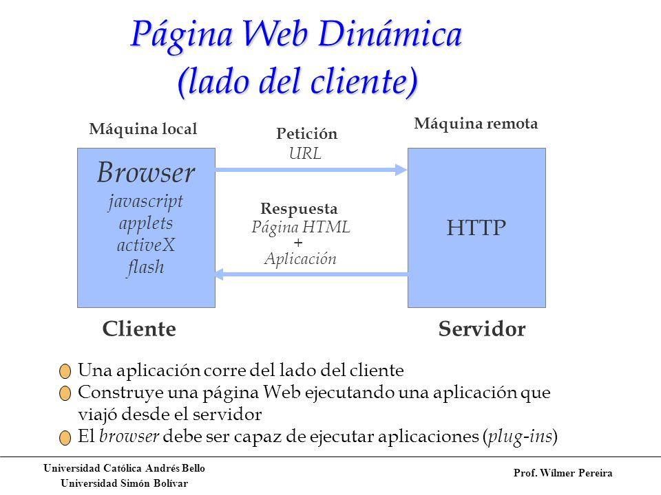 Página Web Dinámica (lado del cliente)
