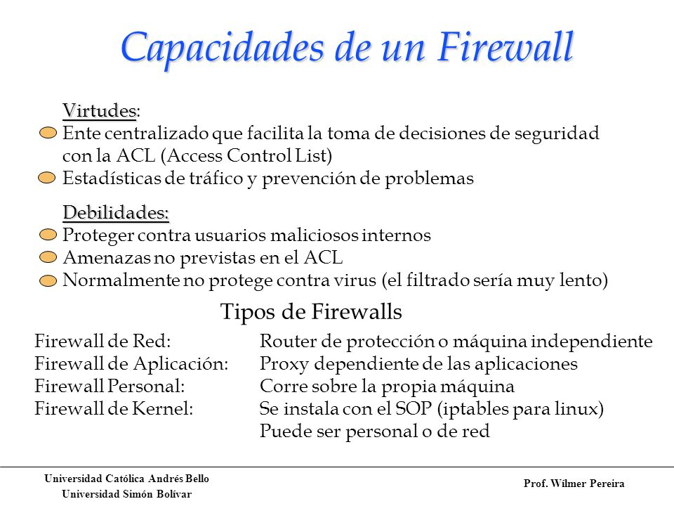 Capacidades de un Firewall