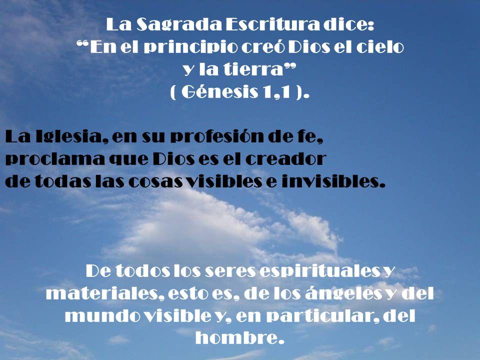 La Sagrada Escritura dice: