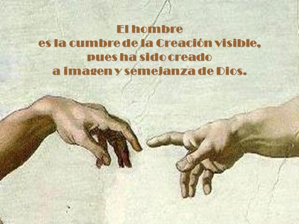 es la cumbre de la Creación visible, a imagen y semejanza de Dios.