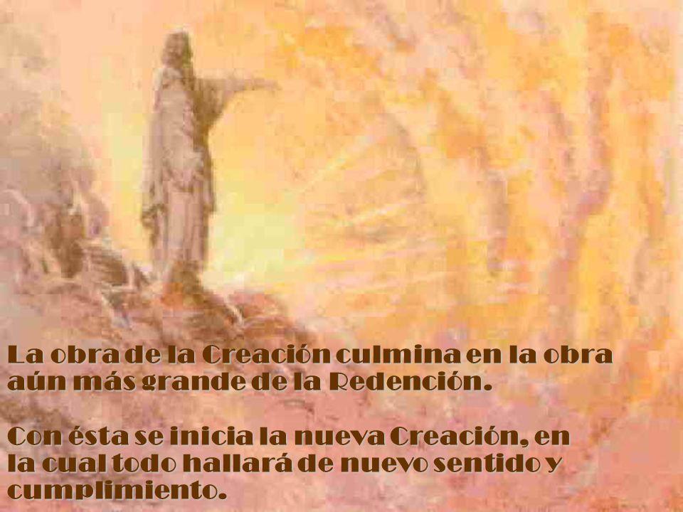 La obra de la Creación culmina en la obra aún más grande de la Redención.