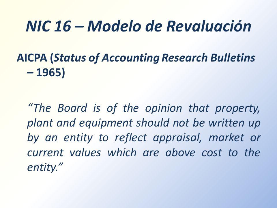 NIC 16 – Modelo de Revaluación