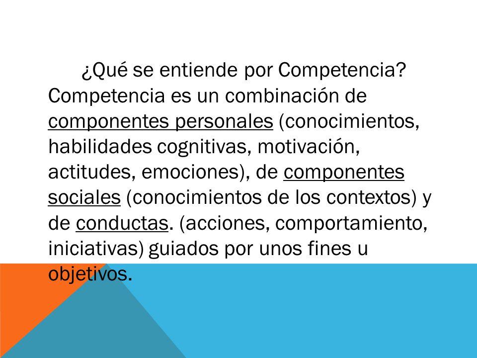 ¿Qué se entiende por Competencia