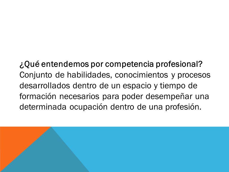¿Qué entendemos por competencia profesional
