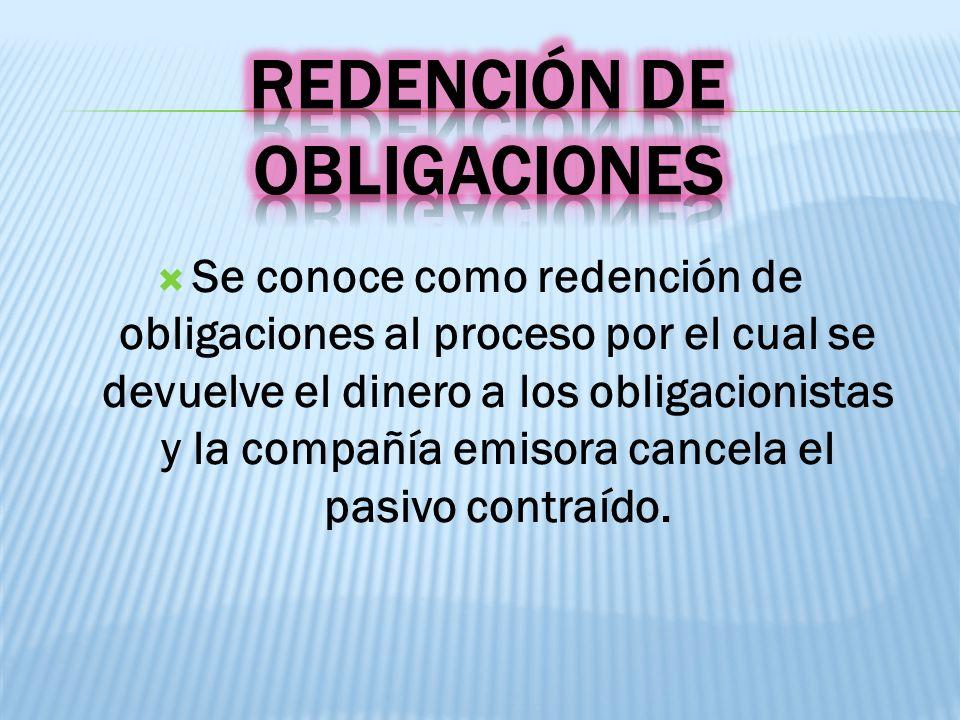 Redención de Obligaciones
