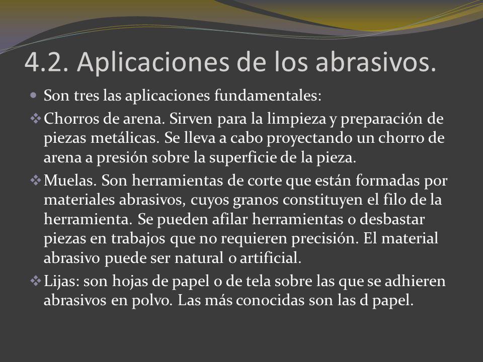 4.2. Aplicaciones de los abrasivos.