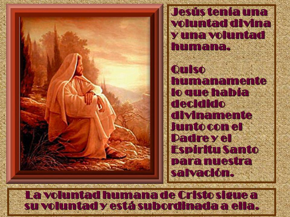 Jesús tenía una voluntad divina y una voluntad