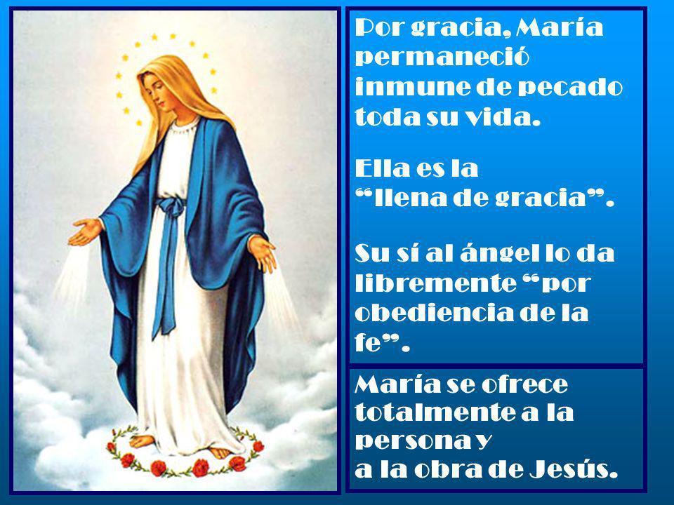 Por gracia, María permaneció inmune de pecado toda su vida.