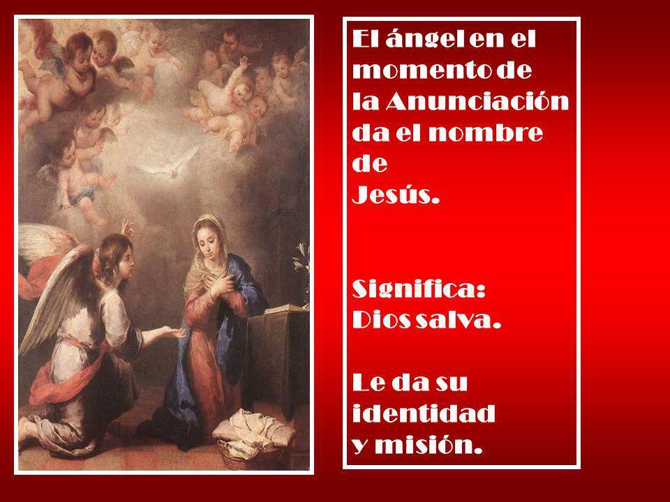 El ángel en el momento de la Anunciación