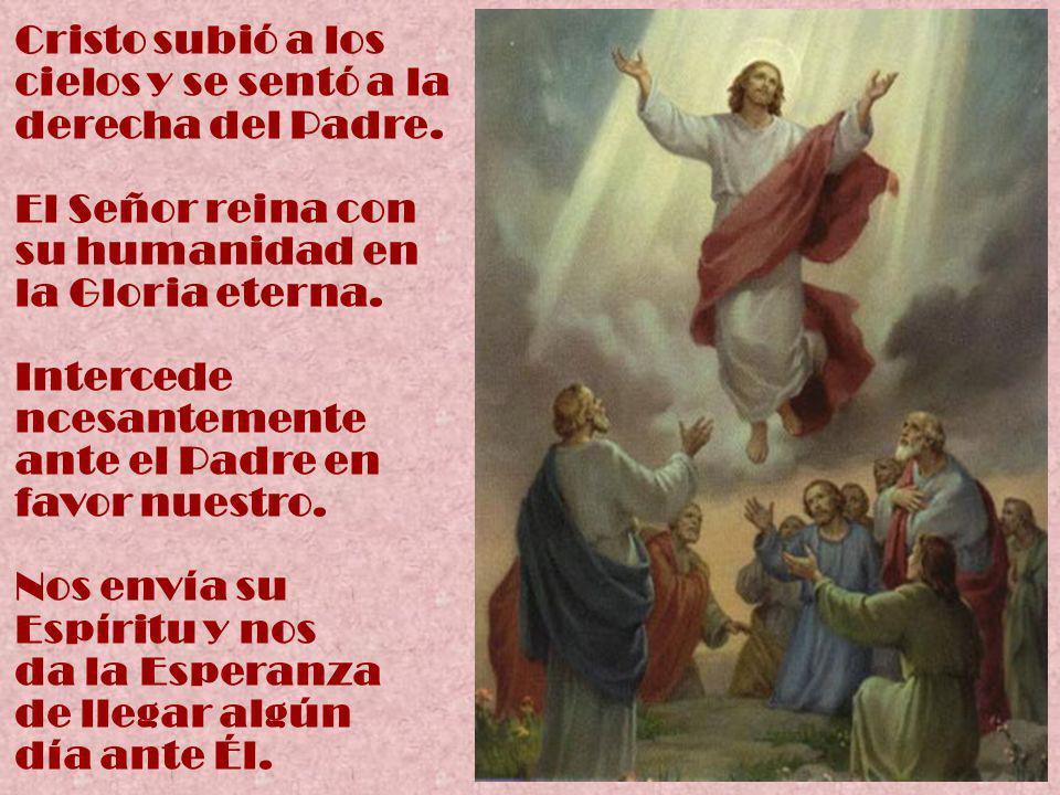 Cristo subió a los cielos y se sentó a la derecha del Padre.