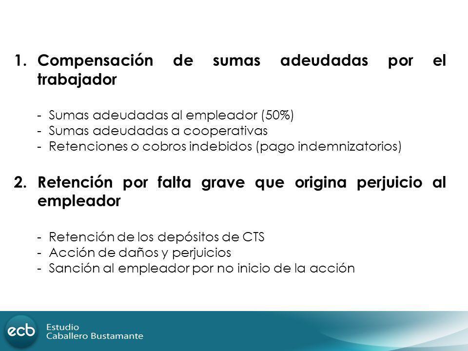 Compensación de sumas adeudadas por el trabajador