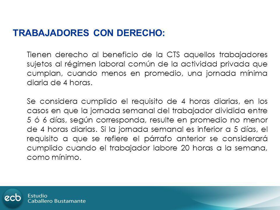 TRABAJADORES CON DERECHO: