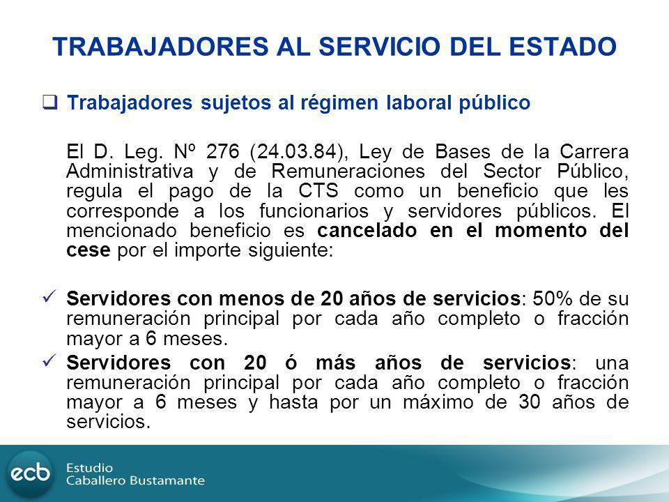 TRABAJADORES AL SERVICIO DEL ESTADO