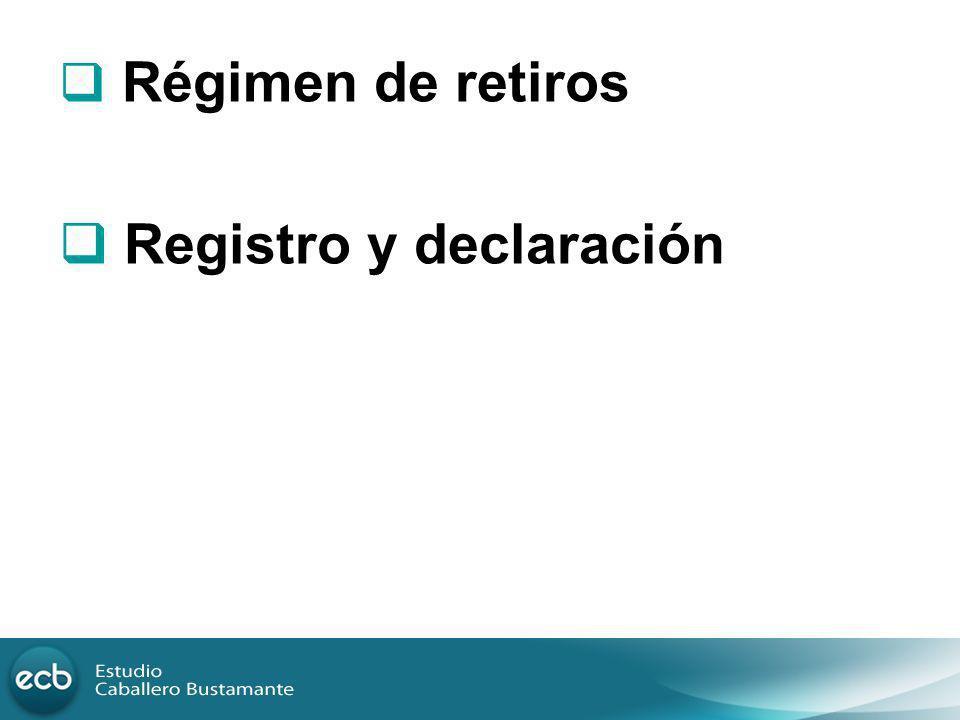 Registro y declaración