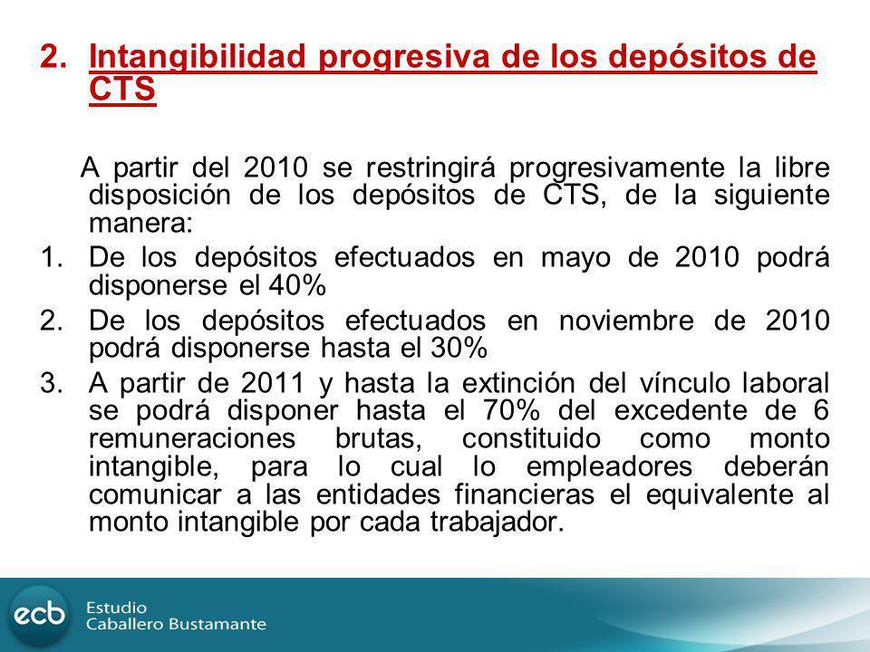 Intangibilidad progresiva de los depósitos de CTS