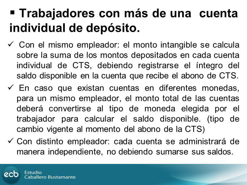 Trabajadores con más de una cuenta individual de depósito.