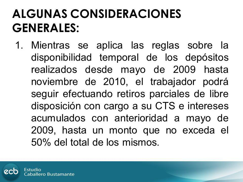 ALGUNAS CONSIDERACIONES GENERALES: