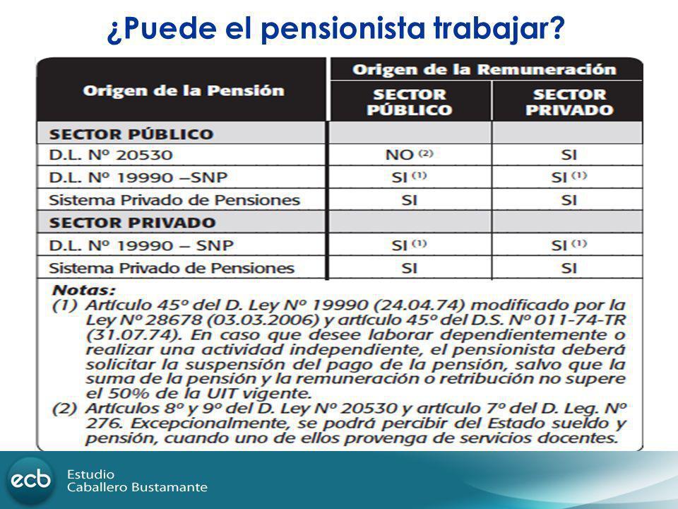 ¿Puede el pensionista trabajar