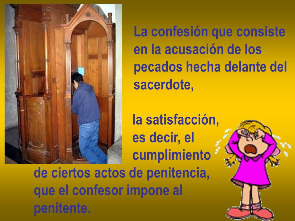 La confesión que consiste