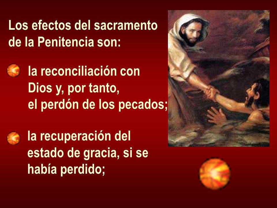 Los efectos del sacramento