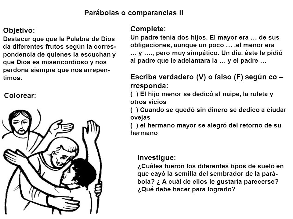 Parábolas o comparancias II