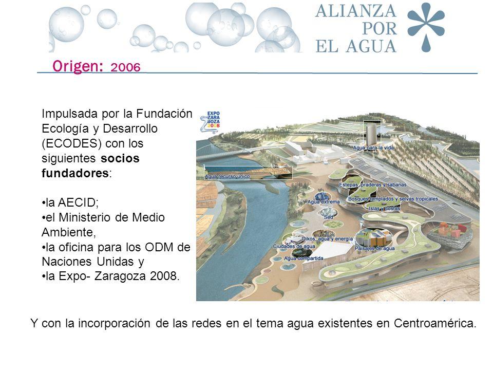 Origen: 2006 Impulsada por la Fundación Ecología y Desarrollo (ECODES) con los siguientes socios fundadores: