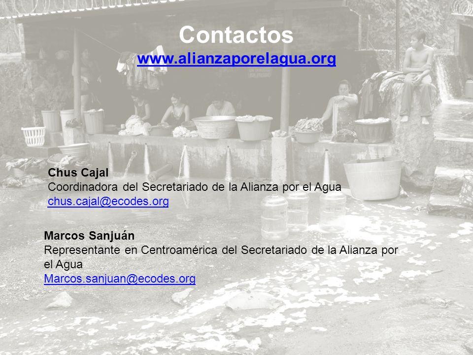 Contactos www.alianzaporelagua.org Chus Cajal