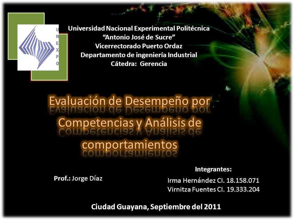 Evaluación de Desempeño por Competencias y Análisis de comportamientos