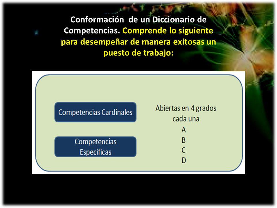 Conformación de un Diccionario de Competencias