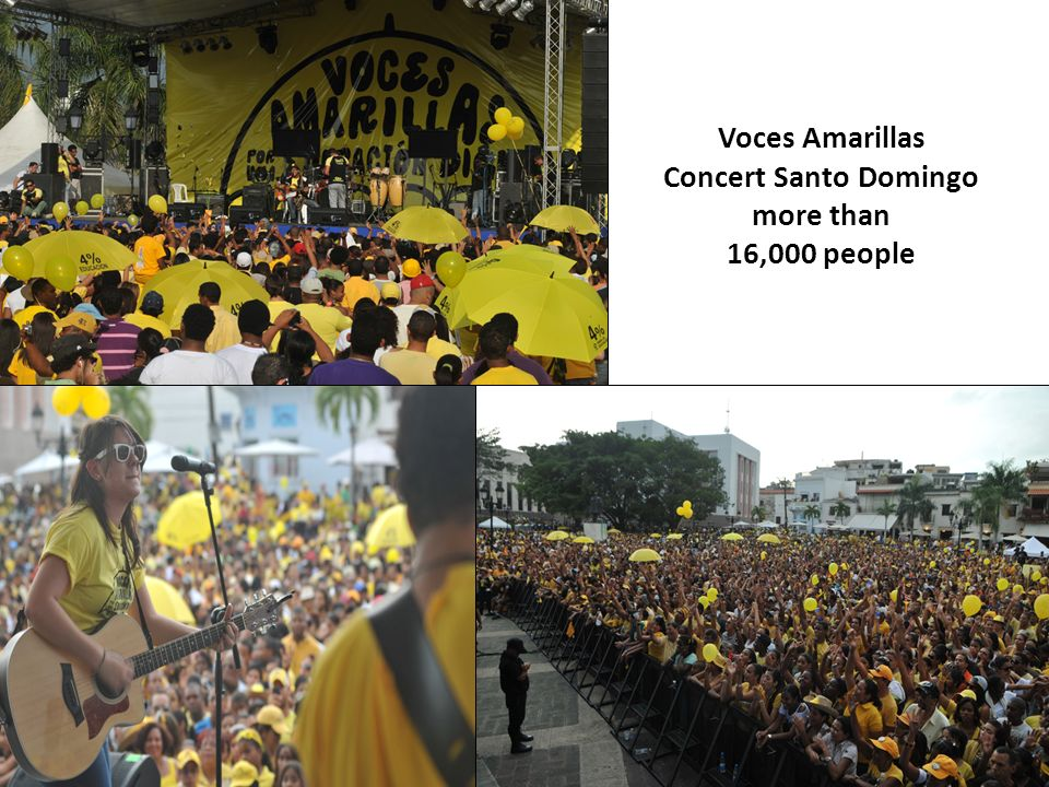 Voces Amarillas Concert Santo Domingo more than 16,000 people