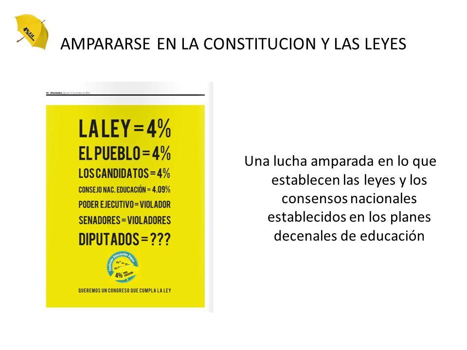 AMPARARSE EN LA CONSTITUCION Y LAS LEYES